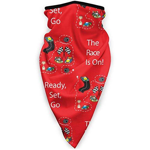 NA Masque de ski coupe-vent pour moto Motif rose noir Taille unique The Race is on - Race Cars Red