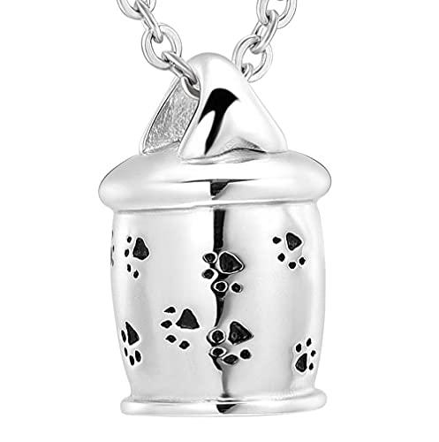 Collares de urna para cenizas Cremación Cubo pequeño Collar de urna de acero inoxidable Recuerdo para el funeral Conmemorativo Cenizas Colgante Joyas Eternity Cremation-1
