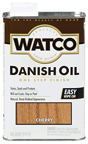 Watco 65241 Danish Oil Wood Finish, Quart, Cherry