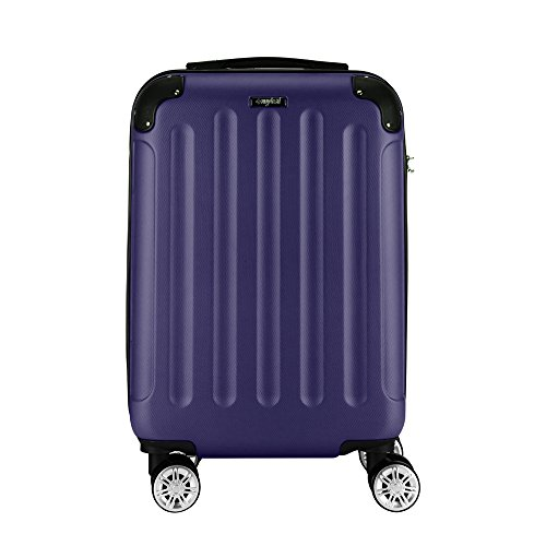 Sunydeal Maleta Rígida Equipaje Grande, 75cm , 85 Litros, Azul Marino, Candado TSA , 4 Ruedas multidireccional