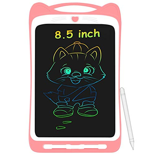 AGPTEK 8.5 Pulgadas Tablets de Escritura con Pantalla de Color LCD, Botón de Bloqueo, Portátil Tableta de Dibujo para Niños, Clase, Casa, Rosa