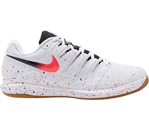 Nike Air Zoom Vapor X Cly, Scarpe da Passeggio Uomo, White/Laser Crimson/Oracle Aqua/off Noir, 40 EU