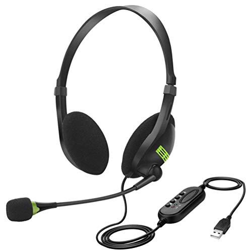 STOBOK Kabelgebundenes Headset mit Mikrofon-USB-Kopfhörer mit Geräuschunterdrückung für Kundendienst-Bürocomputer