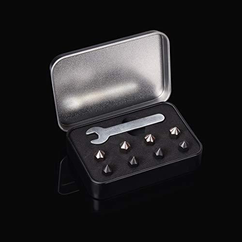 8Pcs MK8 Nozzle Kit for 3D Printer, 0.25mm + 0.4mm + 0.6mm MK8 Nozzle