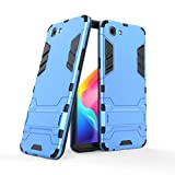 AXRXShangHang for Oppo Realme 1/Oppo F7 Youth/Oppo A73S,Dual Layer Armor Defender Shockproof Protective Hard Case with Stand for Oppo Realme 1/Oppo F7 Youth/Oppo A73S (Color : Blue)