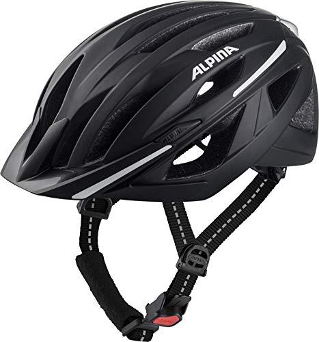 ALPINA HAGA Fahrradhelm, Unisex– Erwachsene, black matt, 58-63