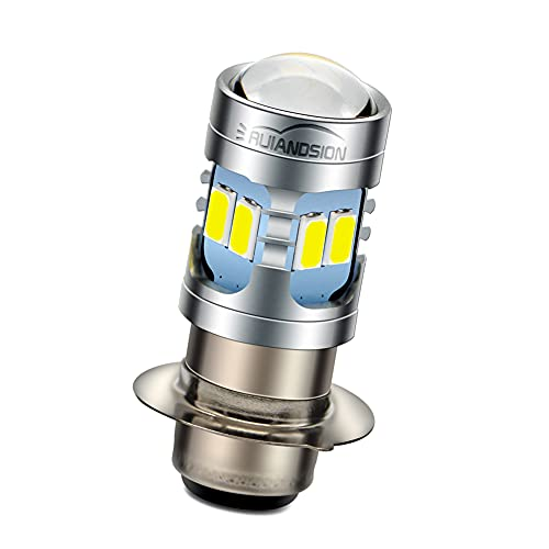 H6M LED Bulb Ruiandsion P15D DC 6V 12V Universal 5730 12SMD 6000K White 600lm LED Replacement Bulb for Motorcycle Headlight