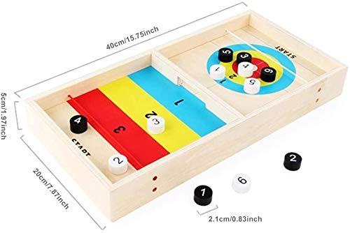 Tafelblad Tabel Curling Game Houten 2 in 1 Curling bordspel speelgoed for volwassenen of kinderen van 3 jaar
