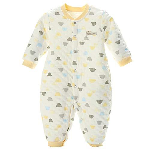 Winter Cotton Baby One-Piece Pyjama's, pasgeboren thermo-ondergoed gewatteerde overall, geschikt voor 0~3 jaar oude baby