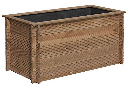 Gartenpirat Hochbeet 150x75 cm Bausatz mit Stecksystem aus Holz KDI braun