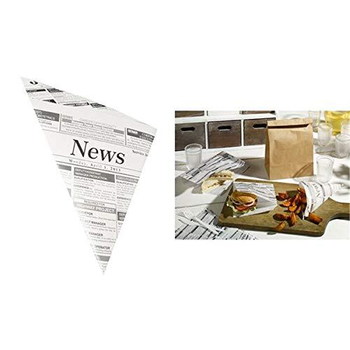 1000 Pommes-Frites-Spitztüten, Pergament-Ersatz, gefäd. 32,5 cm x 23 cm x 23 cm
