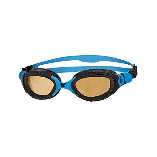 Zoggs Predator Flex Polarized Ultra Gafas de natación, Unisex, Black/Blue/Copper, Talla única
