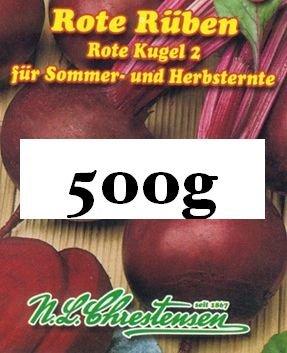 Rote Rüben 'Rote Kugel 5` Vorteilspackung 500 g, für Sommer- und Herbsternte