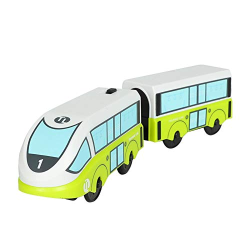 Battery Operated Toy Train, Railway Locomotive Train Magnetic Connection Compatible with Wooden Track Present for Kids (Not Included Wooden Track)