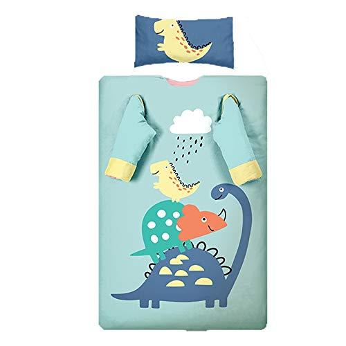 Alfombra de siesta para niños pequeños Adecuado para todas las estaciones con almohada extraíble, almohadillas de algodón finas y gruesas Estera de siesta suave para guardería preescolar Bolsa de dorm