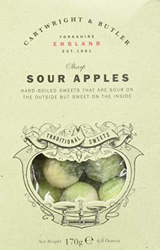 Cartwright & Butler Sour Apple Sweets, pack, Saure Apfel Bonbons, 1er Pack (1 x )