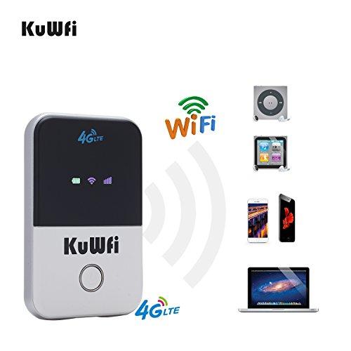 KuWFi Travel Partner inalámbrico Pocket 150Mbps 4G WiFi enrutador 100