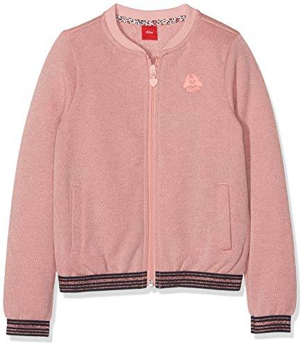 s.Oliver Mädchen 53.908.43.3377 Sweatshirt, Rosa (Light Pink Melange 42w4), 104/110 (Herstellergröße: 104/110/REG)