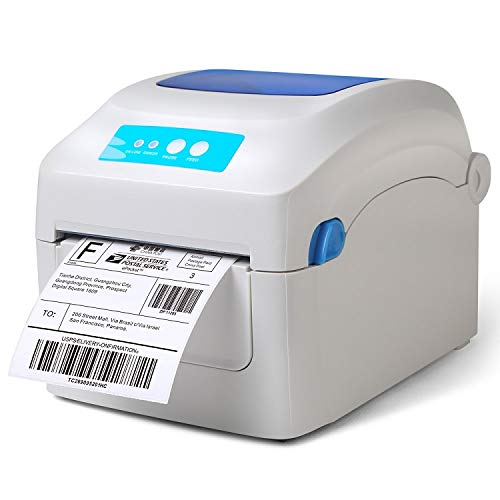 Fangtek Shipping Label Printer - Direct Thermal High Speed Printer - Compatible with Amazon, eBay, Etsy, Shopify – 4×6 Label Printer & Multifunctional Printing – Compare to Dymo 4XL