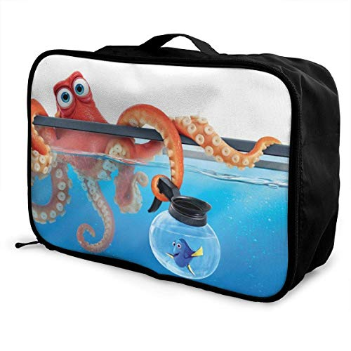 Finding Dory Travel Lage Duffel Bag for Women Men Kids, Waterproof Large Backpack Capacity Lightweight Suitcase Portable Bags