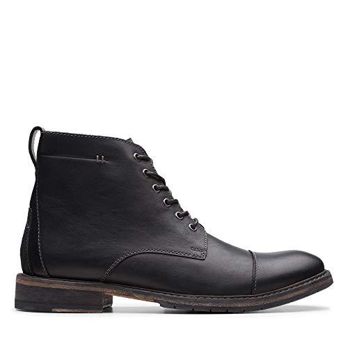 Clarks Herren Clarkdale Hill Klassische Stiefel, Schwarz (Black Leather Black Leather), 42.5 EU