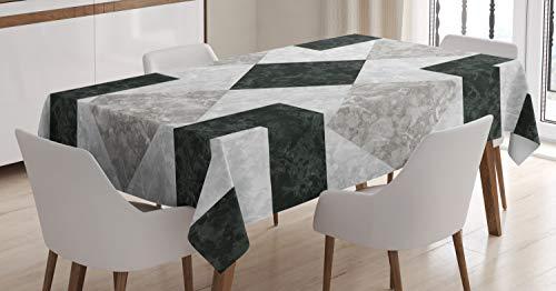 ABAKUHAUS Marmo Tovaglia, Effetto Marmo, Rettangolare per Sala da Pranzo e Cucina, 140 cm x 240 cm, Nero Beige