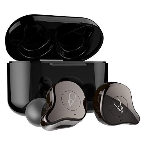 Cloodut - Auriculares Bluetooth con Mini Estuche de Carga portátil y micrófono Integrado para teléfonos móviles Mehrfarbig_A