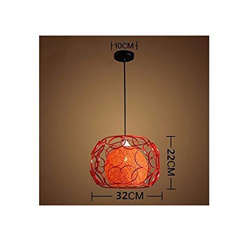 Head gewoon rood 32 x 22 cm industriële ventilator voor trappen, rotan, licht