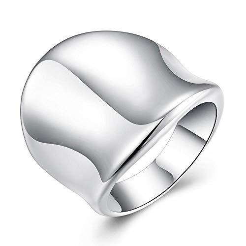 WANGJIA grote duimen ring 925 sterling zilveren ringen voor vrouwen mannen sieraden cadeau