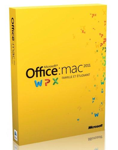 Office Mac Famille et Étudiant 2011, 3 postes