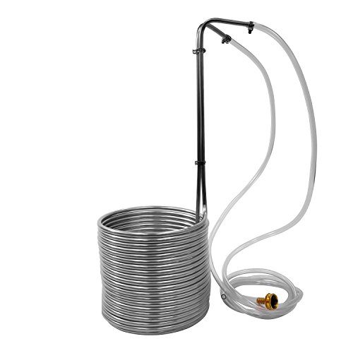 NY Brew Supply W3850-SSV 3/8' x 50' Stainless Steel Wort Chiller, Silver