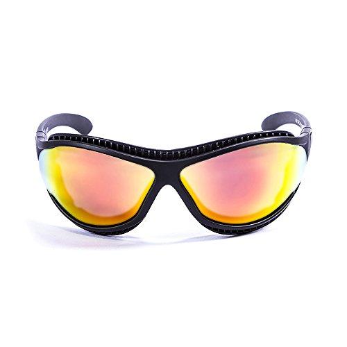 Ocean Sunglasses Tierra de Fuego - Gafas de Sol polarizadas - Montura : Negro Mate - Lentes : Amarillo Espejo (12201.0)