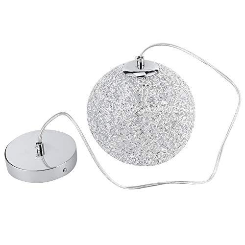 (220V E27) Candelabro de globo de hierro + Luz colgante innovadora de aluminio para ático, tocador, comedor, cafetería