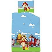 Kinderbettwäsche Disney III 2-teilig 100% Baumwolle 40x60 + 100x135 cm mit Reißverschluss