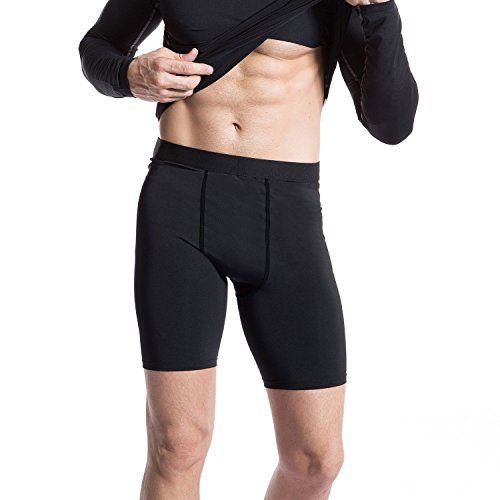 Niksa 3 Pack Compression Shorts Men Quick Dry Black Performance...