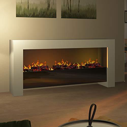 Muenkel Design Bridge XXL [Moderno Opti-myst Design - Chimenea eléctrica (cálida), color blanco