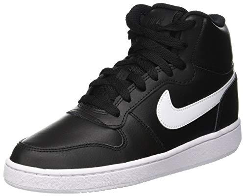 Nike Ebernon Mid, Zapatillas Altas Mujer, Negro (Black/White 001), 36 EU
