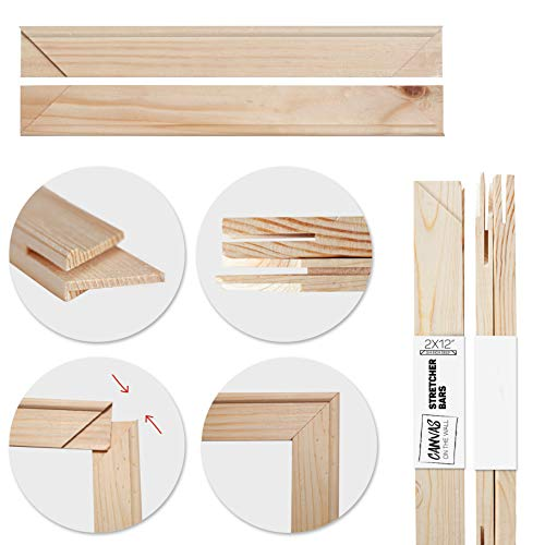"Art Canvas Stretcher Bars Standard Stretching Strips 3/4"" deep by Canvas on the Wall (2 Canvas Bars, 10 inch)"
