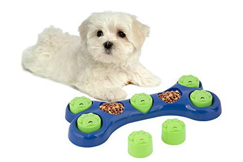 Adeptna Futternapf für Hunde, Knochenform, lustiges Puzzle zum Füllen mit Leckerlis, langsames Füttern, interaktives Spiel für Ihren Hund, zum Verstecken von Leckerlis