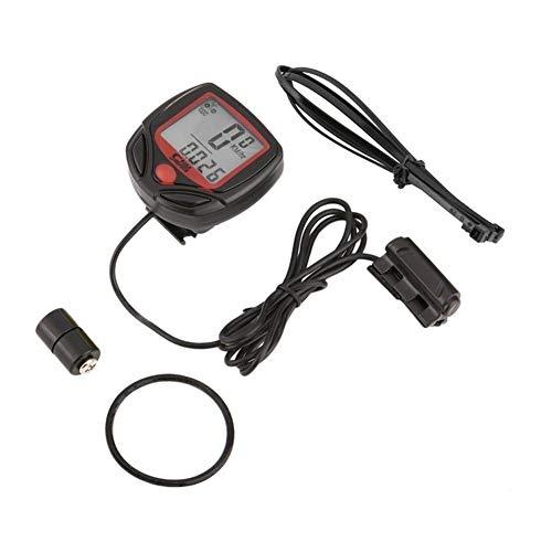 Computer Bicicletta Multifunzionale Wired Contachilometri Cronometro Impermeabile Mini Digital LCD tachimetro Tracker all Ingrosso (Color : SD 546A)