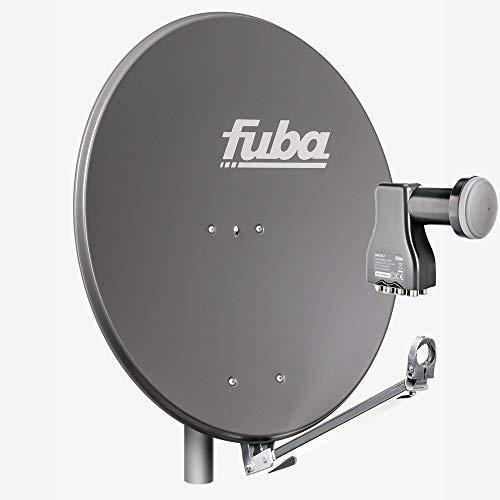 Fuba 8 Teilnehmer Sat Anlage DAL 808 A | Sat Komplettanlage mit Fuba DAL 800 A Alu Sat-Schüssel/Sat-Spiegel anthrazit + Fuba DEK 817 Octo LNB für 8 Receiver/Teilnehmer (HDTV-, 4K- und 3D-kompatibel)