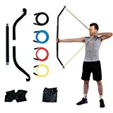 KIKIGOAL Bow Portable Home Gym Resistance Bands and Bar System for Travel, Fitness, Weightlifting and Exercise Kit, Full Body Workout Equipment Set