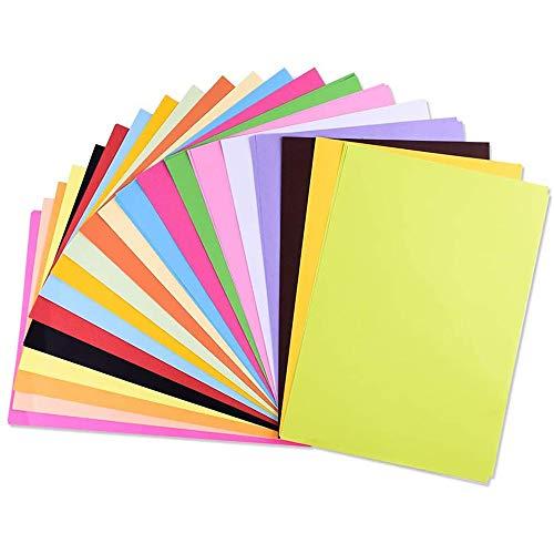 100 Blatt Farbe A4 Papie Farbe A4 Papier Farbiges Kopierpapier A4 Ton-Zeichen-Papiere bunt Bastel-Bogen Farbig 20 Verschiedenen Farben,80g/m²(20 Zufällige Farben)