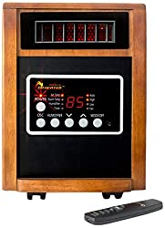 Dr Infrared Heater DR998, 1500W, Advanced Dual Heating System with Humidifier and Oscillation Fan and Remote Control (Renewed)