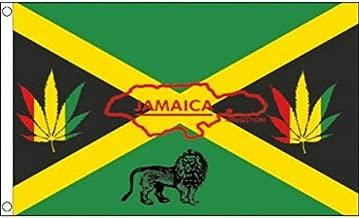 AZ FLAG Bandera de Jamaica Reggae 150x90cm - Bandera JAMAICANA Rasta 90 x 150 cm