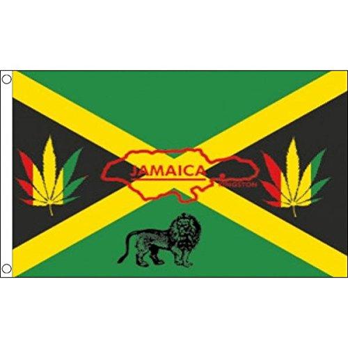 AZ FLAG Flagge Jamaika Reggae 150x90cm - Rasta Fahne 90 x 150 cm - flaggen Top Qualität