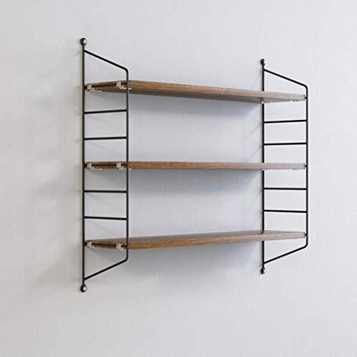 DDZ Mensole Scaffale di Esposizione di stoccaggio di Legno della scaffalatura di 3 scaffali Decorativi della Parete Decorativa del Ferro con Montaggio Invisibile Scaffale (Color : A)