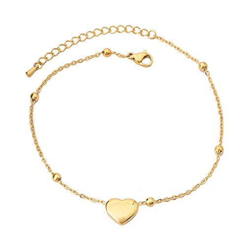 Cadena de amor simple serie fresca verano must-have titanium acero horno electroplating joyería de preservación de oro