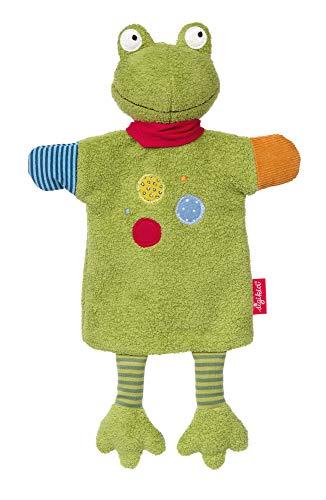 SIGIKID Mädchen und Jungen, Schnuffeltuch-Handpuppe Flecken Frog, Babyspielzeug, empfohlen ab 3 Monaten, grün, 39257