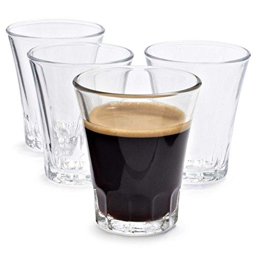DURALEX Set 4 Bicchierini Shot Modello Amalfi Vintage per Bar caffè liquore (7cl)